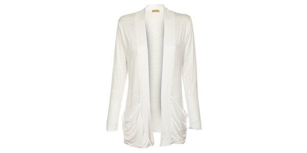 Dámsky dlhý biely kardigan Comptoir des Parisiennes