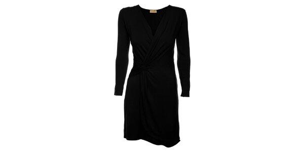Dámske čierne zavinovacie šaty Comptoir des Parisiennes