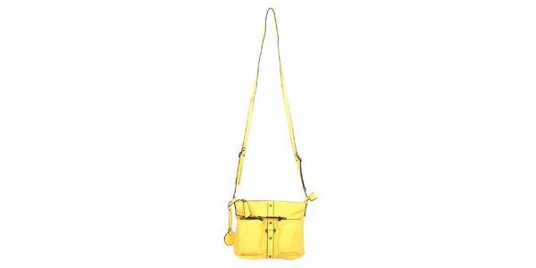Dámska žltá taška cez rameno Elite