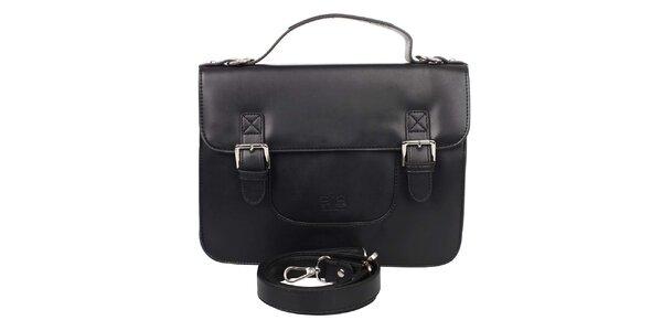 Dámska čierna kabelka s klopou Elite