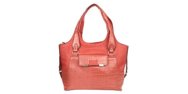 Dámska korálová kabelka so vzorem krokodílej kože Elite