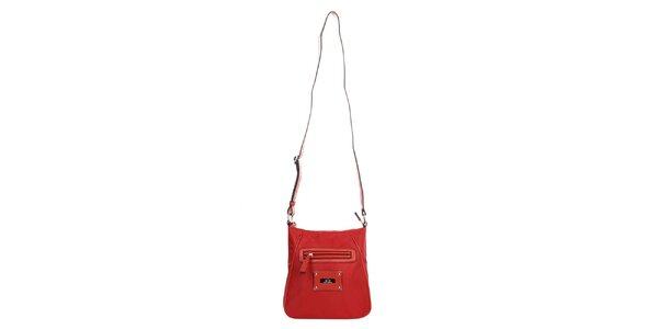 Dámska červená kabelka so zipsom Elite