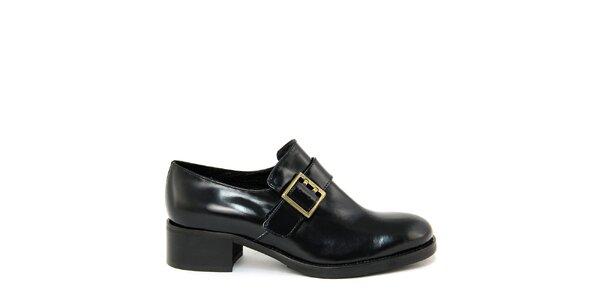 Dámske čierne topánky s prackou Paola Ferri