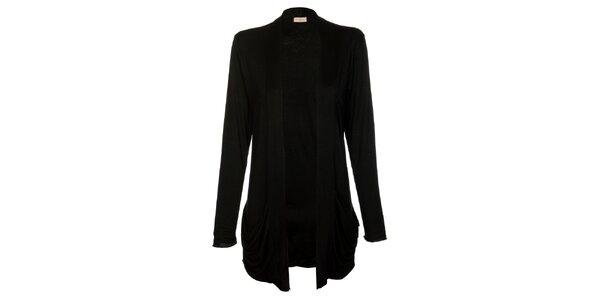 Dámsky dlhý čierny kardigan Comptoir des Parisiennes