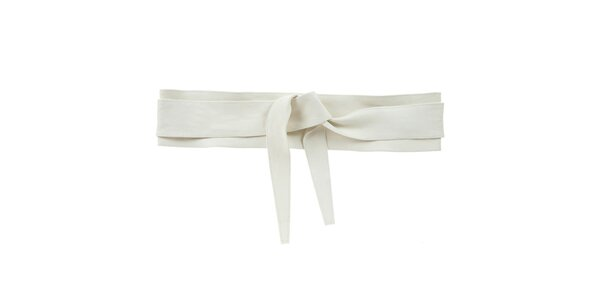 Dámsky biely kožený viazací opasok Tina Panicucci
