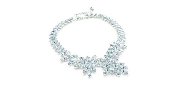 Dámsky náhrdelník so svetlými kryštálikmi Carmen Luna
