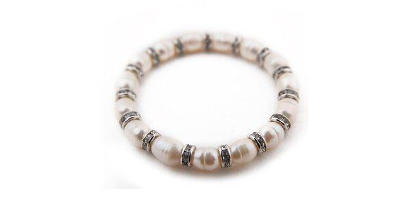 Dámsky biely perlový náramok Orchira
