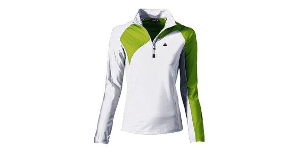Dámska bielo-zelená športová mikina Maier