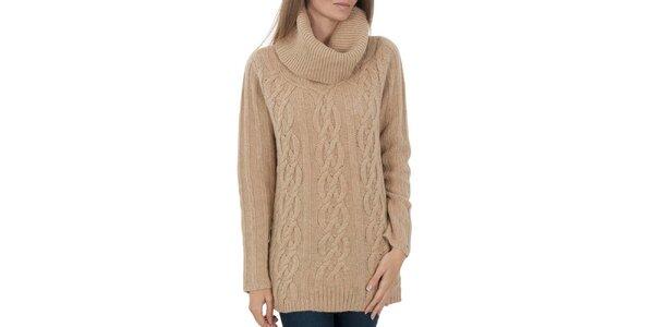 Dámsky béžový sveter so vzorom Tommy Hilfiger