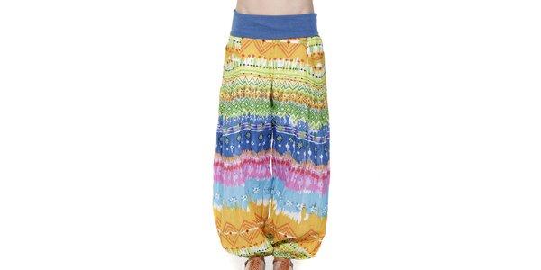 Dámske farebné háremové nohavice Peace&Love