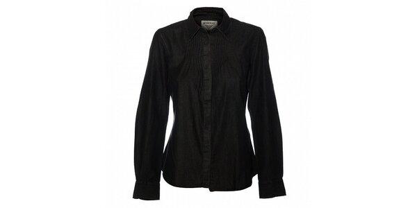 Dámska černá džínová košeľa Bushman