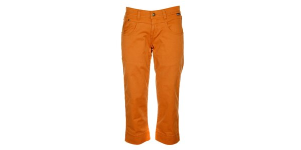 Dámske oranžové capri nohavice Bushman