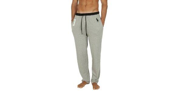Pánske svetlo šedé pyžamové nohavice Ralph Lauren
