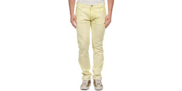 Pánske svetlo žlté džínsy Calvin Klein