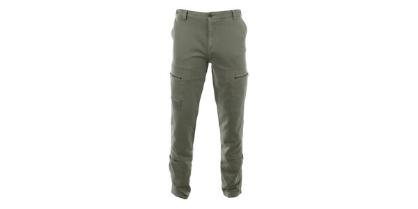 Pánske šedé nohavice so zipsovými vreckami Aeronautica Militare