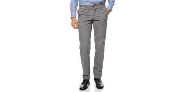 Pánske šedé nohavice Uomini Italiani