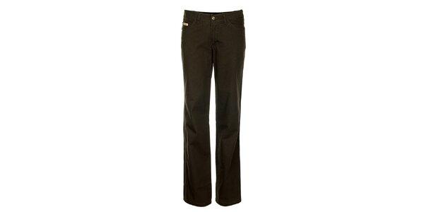 Dámske tmavo hnedé džínsy Bushman