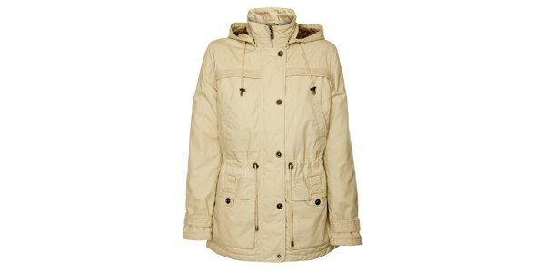 Dámsky krémový jarný kabátik Bushman