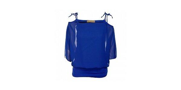 Dámsky žiarivo modrý top Comptoir des Parisiennes
