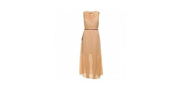 Dámske ružové šaty s opaskom Comptoir des Parisiennes