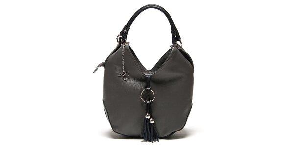 Dámska tmavo šedá kabelka na zips Renata Corsi