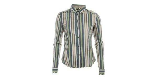 Dámska pruhovaná košeľa s dlhým rukávom Phard