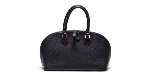 Dámska čierna kožená kabelka so zipsom Mangotti