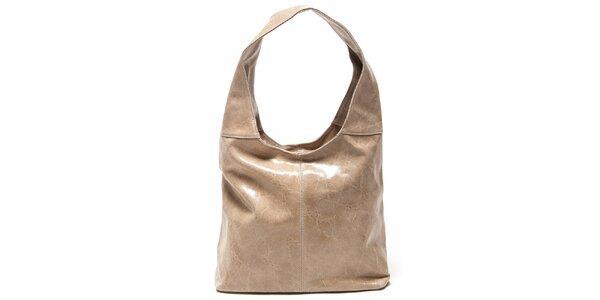 Dámska béžová kabelka s jedným uchom Mangotti