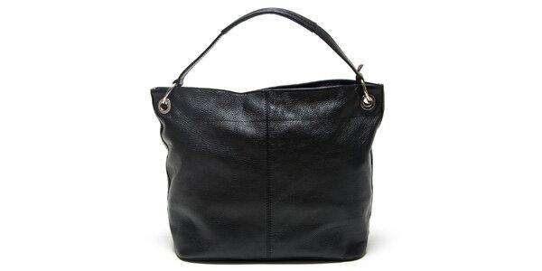 Dámska čierna kabelka s vonkajším vreckom Mangotti