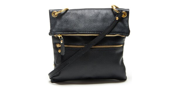 Dámska čierna kabelka s popruhom Mangotti