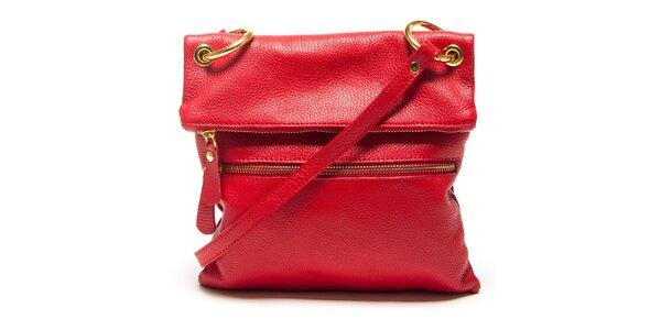 Dámska červená kabelka s popruhom Mangotti