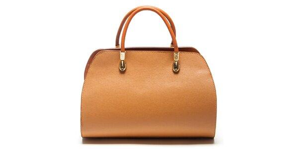 Dámska koňaková kufríková kabelka Mangotti