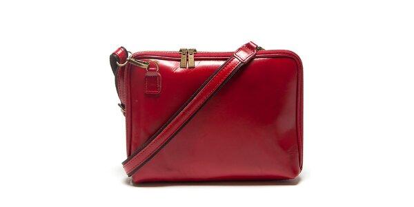 Dámska červená kabelka Mangotti