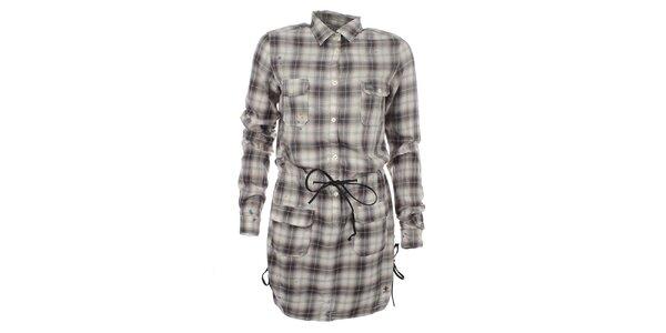 Dámske kockované šaty so sľahováním v páse Zu Elements