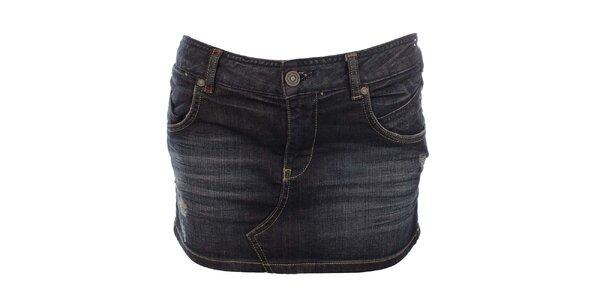 Dámska tmavo modrá džínsová minisukňa Zu Elements