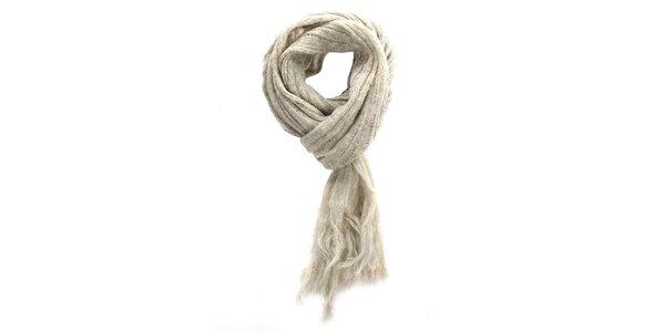 Béžový šál so strapcami Zu Elements