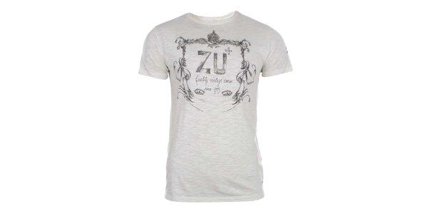 Pánske krémovo biele tričko Zu Elements