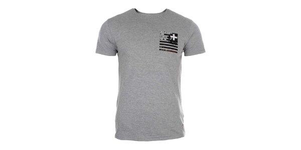 Pánske šedé tričko s krátkym rukávom Zu Elements
