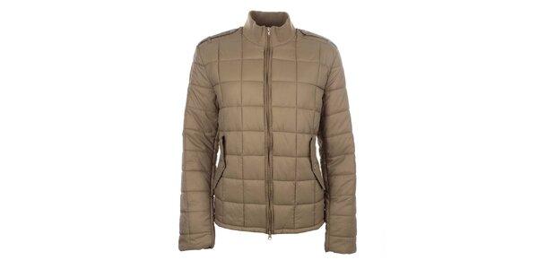 Dámska svetlo hnedá prešívaná bunda so stojačikom Zu Elements