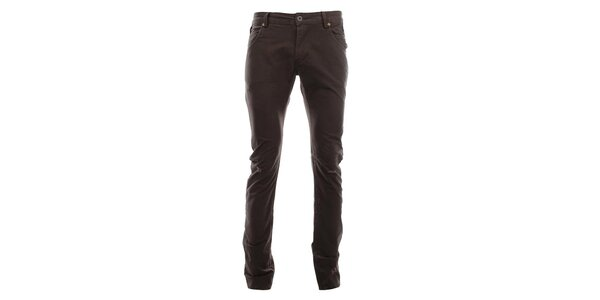Dámske tmavo hnedé nohavice s odreninami Zu Elements