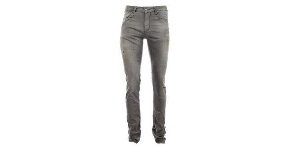 Dámske šedé nohavice s odreninami Zu Elements