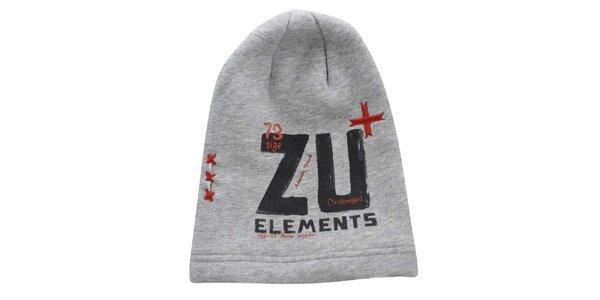 Šedá čiapka s potlačou Zu Elements