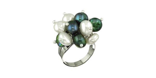 Dámsky prsteň Orchira s farebnými perlami