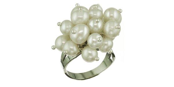 Dámsky prsteň Orchira s bielymi perlami