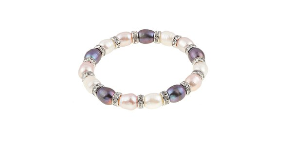 Dámsky farebný perlový náramok Orchira