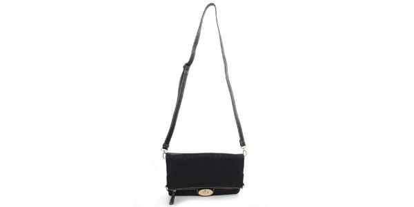 Dámska čierna kabelka s odopínacím popruhom Caro Paris