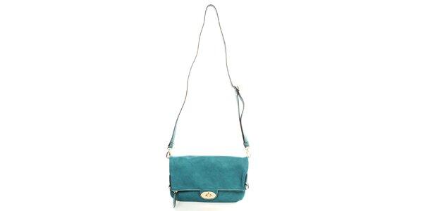 Dámska modrá kabelka s odopínacím popruhom Caro Paris