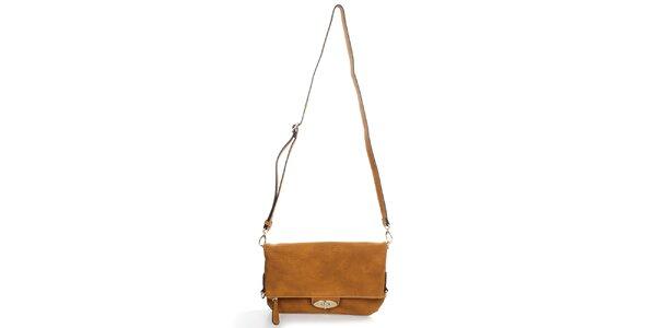 Dámska svetlo hnedá kabelka s odopínacím popruhom Caro Paris