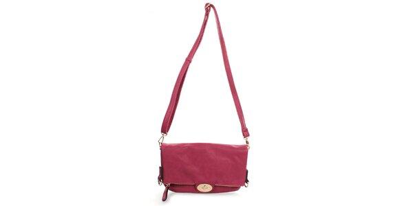 Dámska fuchsiová kabelka s odopínacím popruhom Caro Paris