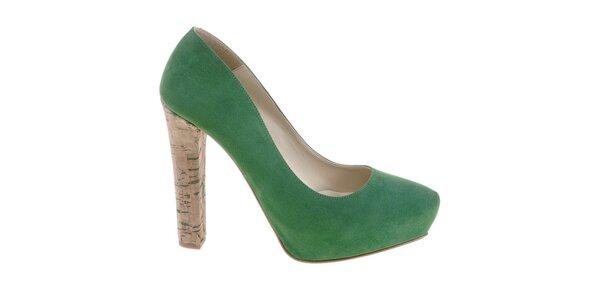Dámske smaragdovo zelené lodičky Eva Lopez
